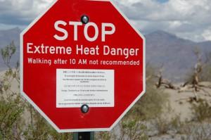 Det varmeste sted på jorden omkring 60 grader i luften