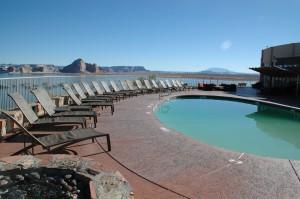 Den ene ud af de to pools der var på Hotellet